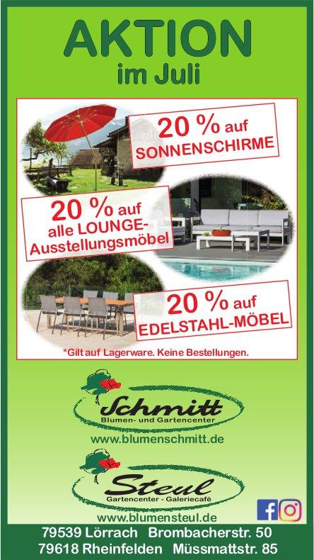 Schmitt und Steul Gartencenter/Blumencenter - AKTION im Juli