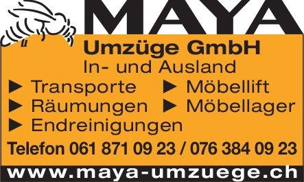 MAYA Umzüge GmbH - In- und Ausland