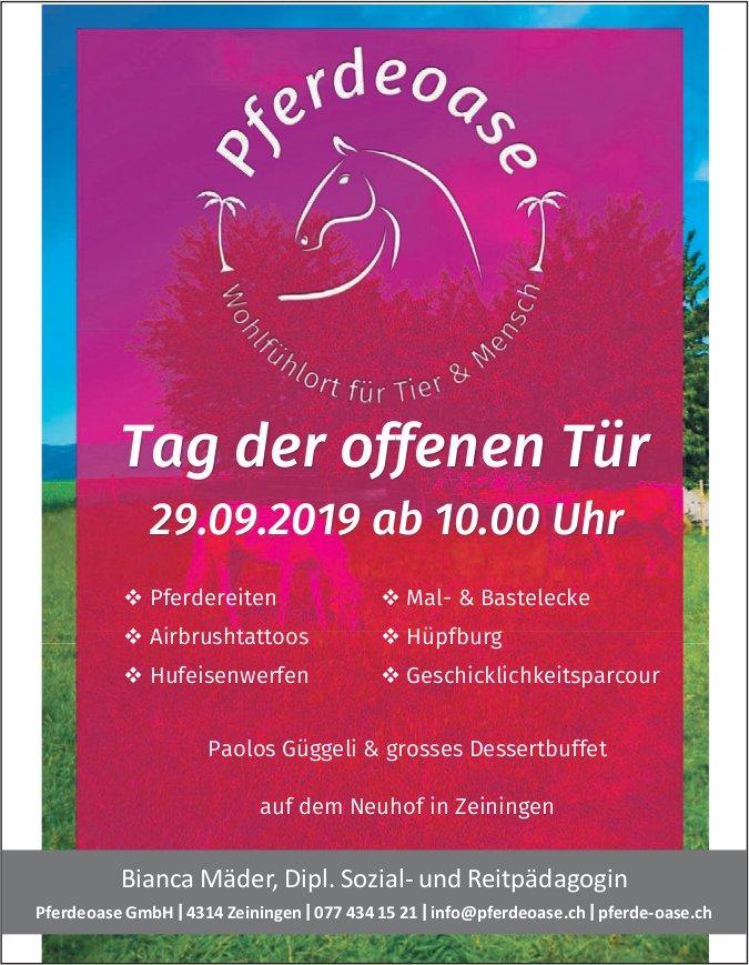 Pferdeoase - Tag der offenen Tür am 29. September