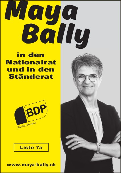 BDP - Maya Bally in den Nationalrat und in den Ständerat