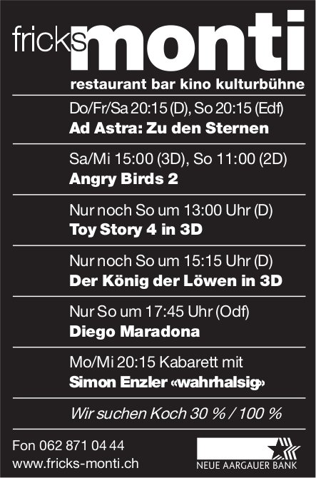Fricks Monti - Programm & Events