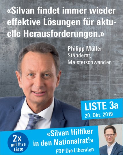 FDP - «Silvan Hilfiker in den Nationalrat!»
