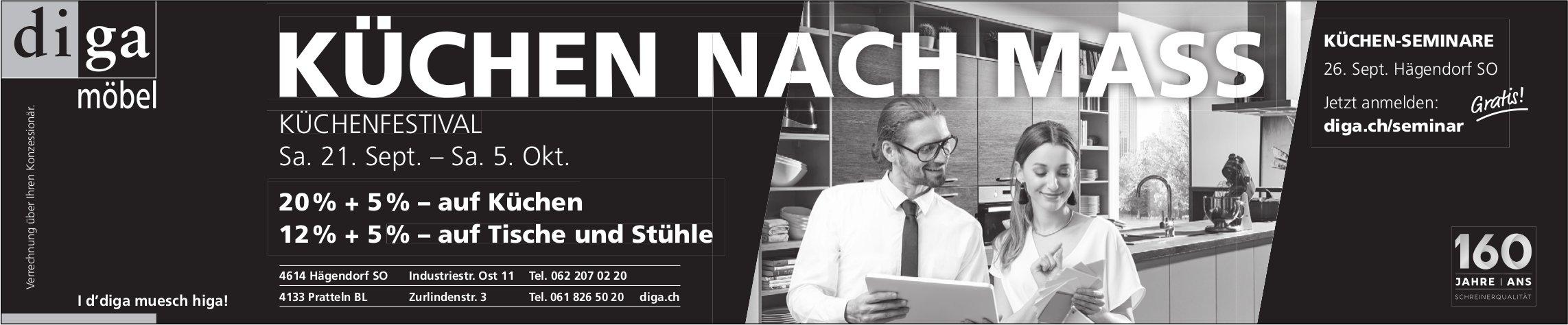 DIGA MÖBEL - KÜCHEN NACH MASS / KÜCHENFESTIVAL, 21. SEPT.-5.OKT.