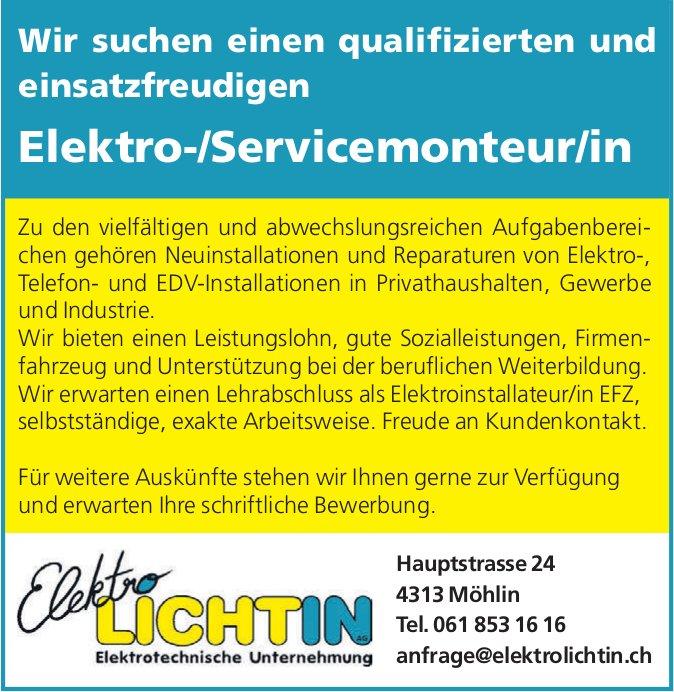 Elektro-/Servicemonteur/in bei Elektro Lichtin AG gesucht