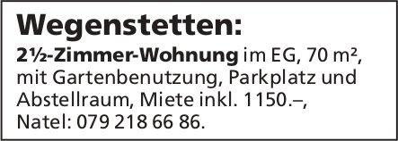 2½-Zimmer-Wohnung im EG, 70 m², in Wegenstetten zu vermieten
