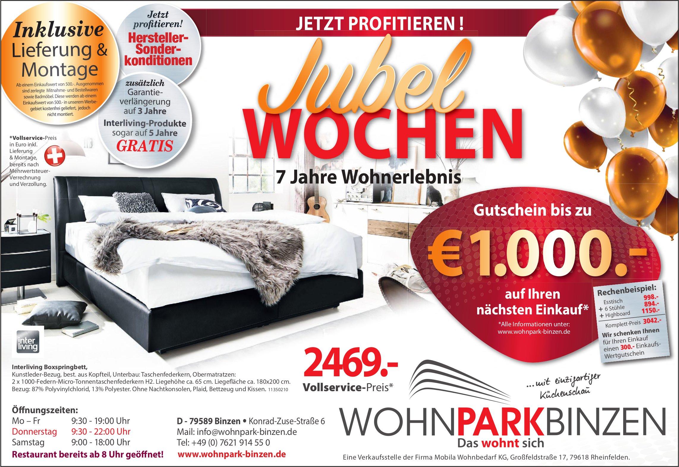 Wohnpark Binzen - Jubel Wochen: Jetzt profitieren