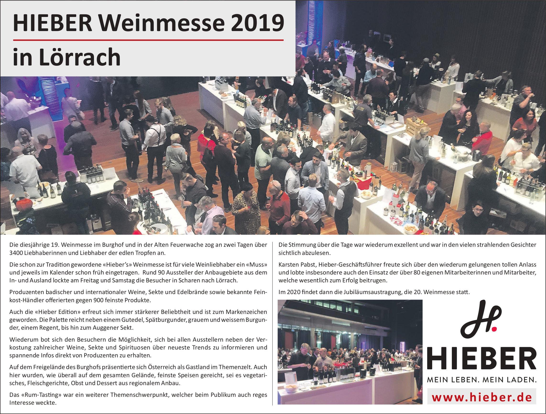 HIEBER Weinmesse 2019 in Lörrach