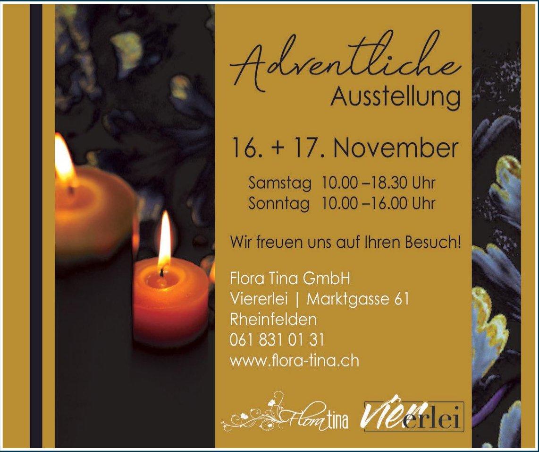 Flora Tina GmbH - Adventliche Ausstellung, 16. + 17. November