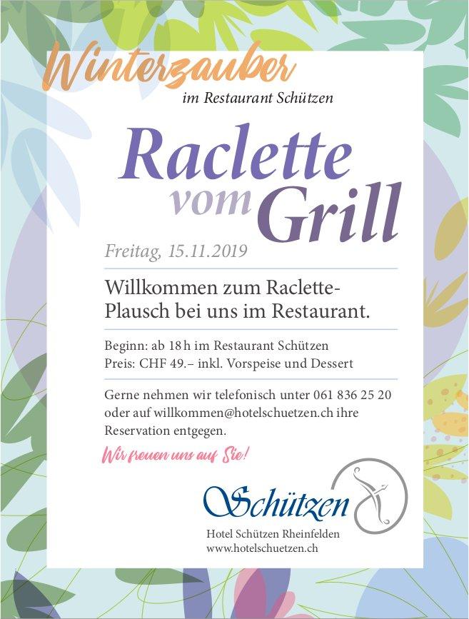 Winterzauber im Restaurant Schützen - Raclette vom Grill am 15. November
