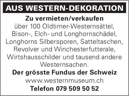 AUS WESTERN-DEKORATION - Zu vermieten/verkaufen
