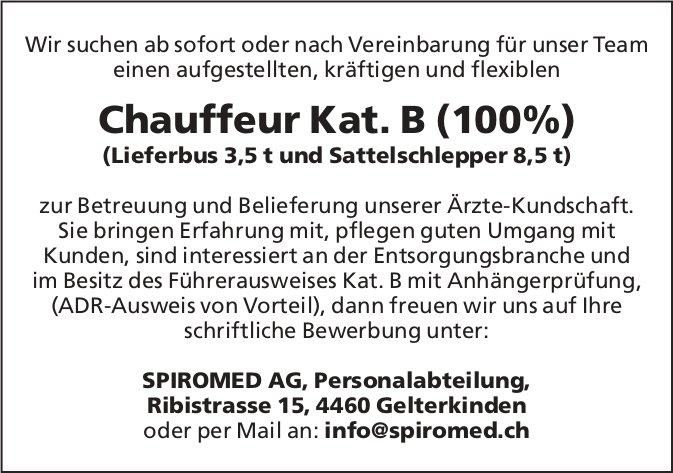 Chauffeur Kat. B (100%) (Lieferbus 3,5 t und Sattelschlepper 8,5 t) bei SPIROMED AG gesucht