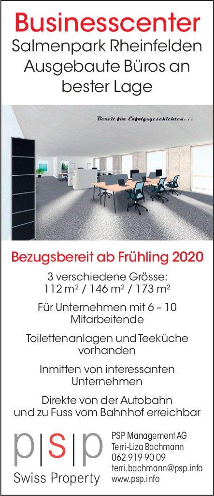 Ausgebaute Büros, 3 verschiedene Grösse, im Businesscenter Salmenpark Rheinfelden