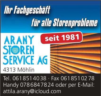 ARANY STOREN SERVICE AG - Ihr Fachgeschäft für alle Storenprobleme