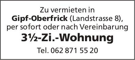 3½-Zi.-Wohnung in Gipf-Oberfrick zu vermieten