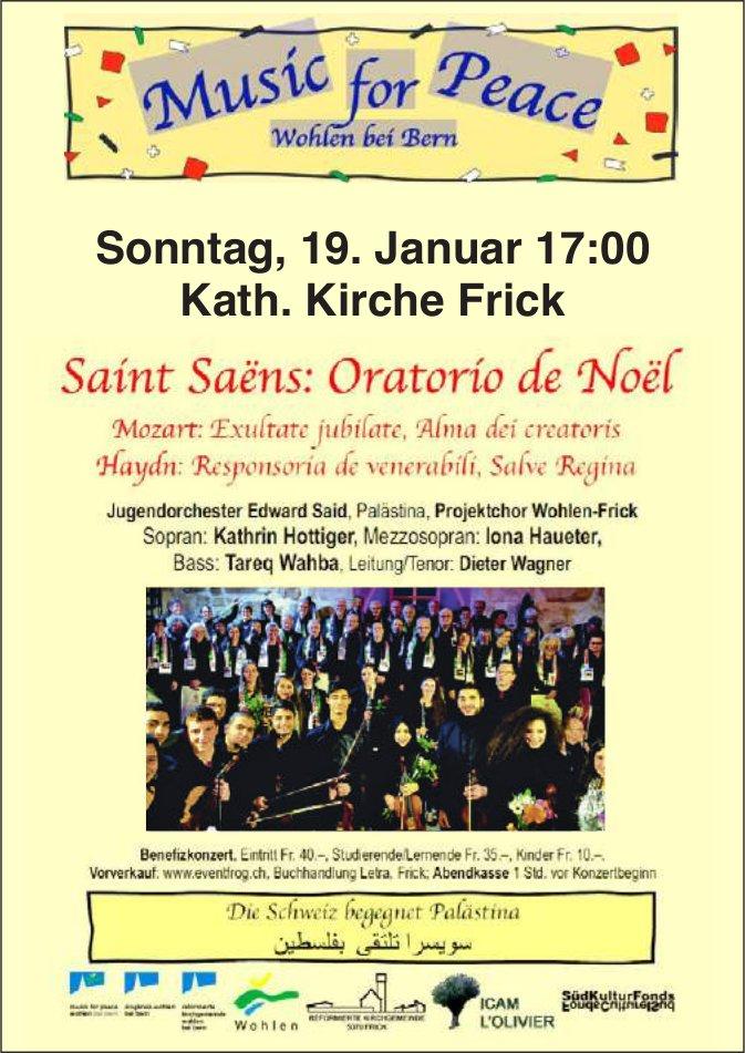 Music for Peace - Saint Saöns: Oratorio de Noël am 19. Januar