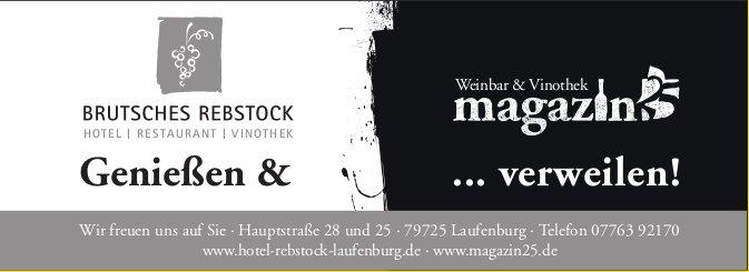 BRUTSCHES REBSTOCK, Laufenburg, Genießen & ... verweilen!