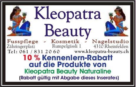 Kleopatra Beauty - 10 % Kennenlern-Rabatt auf die Produkte von Kleopatra Beauty Naturaline