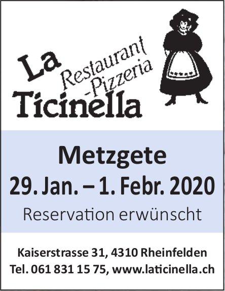 Metzgete 29. Jan. – 1. Febr. 2020, 29. Januar, Restaurant-Pizzeria La Ticinella, Rheinfelden