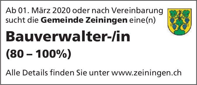 Bauverwalter-/in bei Gemeinde Zeiningen gesucht
