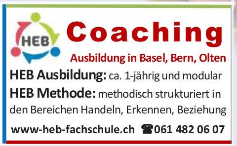 HEB Coaching - Ausbildung in Basel, Bern, Olten