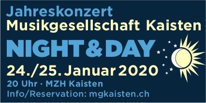 Musikgesellschaft Kaisten - Jahreskonzert Night & Day, 24./25. Januar