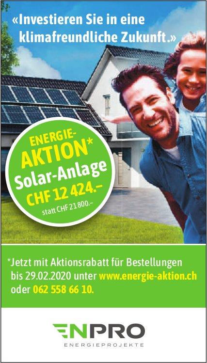 ENPRO ENERGIEPROJEKTE - « Investieren Sie in eine klimafreundliche Zukunft.» Energie-Aktion