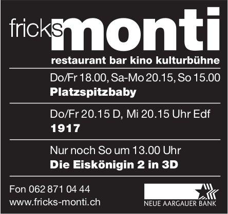 Fricks Monti - Programm