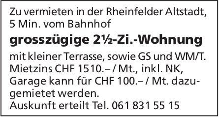 Grosszügige 2½-Zi.-Wohnung in der Rheinfelder Altstadt zu vermieten