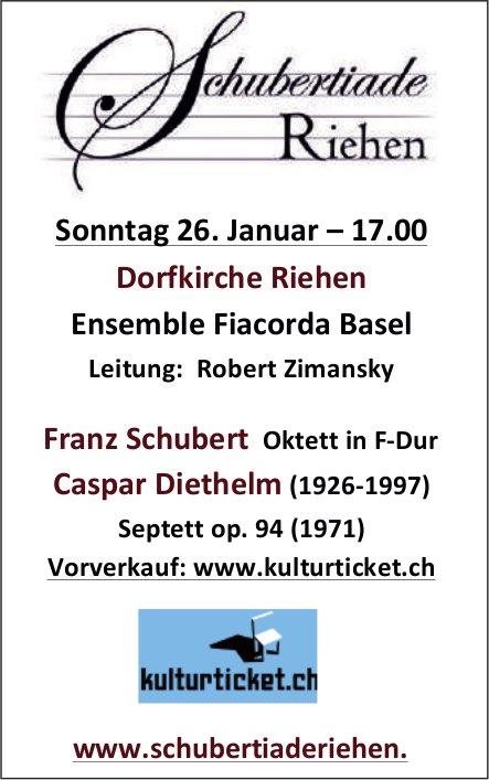 Schubertiade Riehen, Ensemble Fiacorda Basel, 26. Januar, Dorfkirche, Riehen