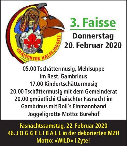 Chaischter Haldejoggeli - 3. Faisse am 20. Februar