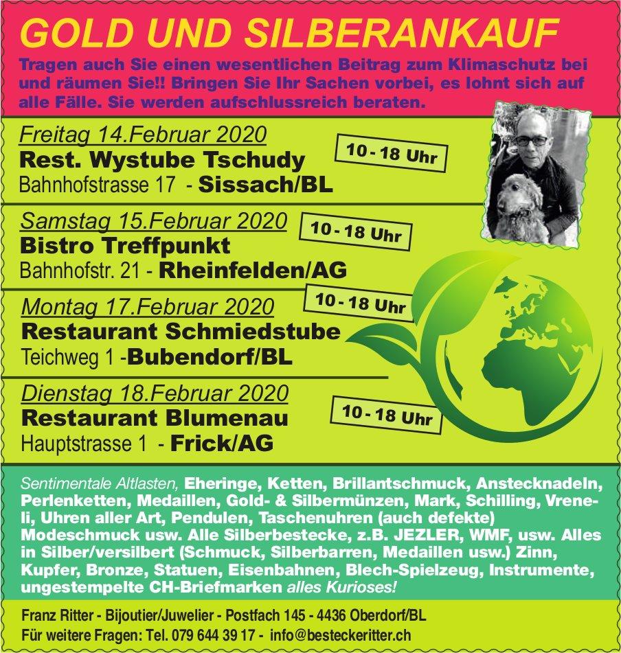 GOLD UND SILBERANKAUF, 14./15./17./18. Februar - Franz Ritter, Bijoutier/Juwelier