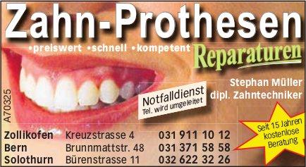Stephan Müller, dipl. Zahntechniker - Zahn-Prothesen Reparaturen