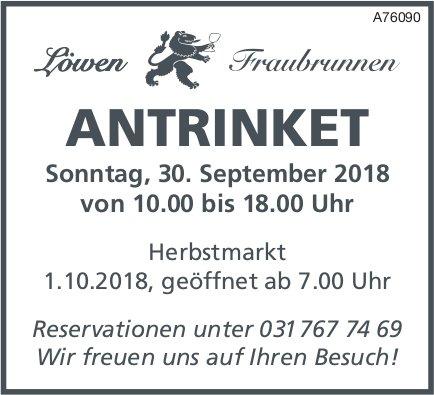 Löwen Fraubrunnen - ANTRINKET am 30 September