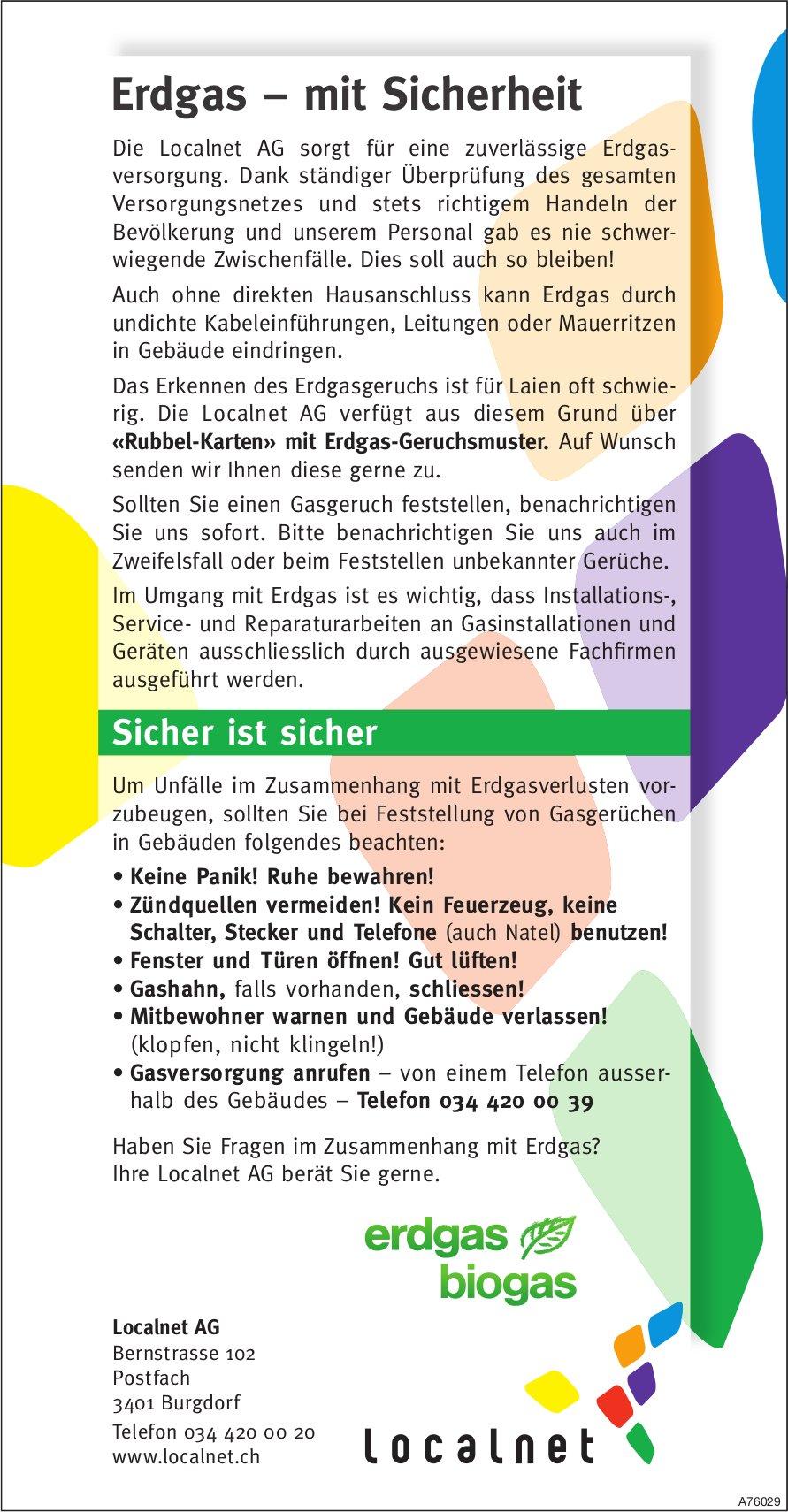 Localnet AG - Erdgas, mit Sicherheit