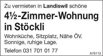 4½-Zimmer-Wohnung in Stöckli in Landiswil zu vermieten