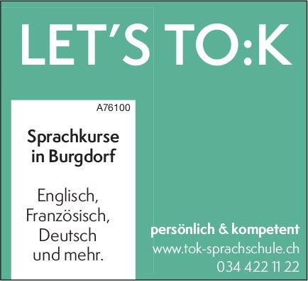 LET'S TO:K - Sprachkurse in Burgdorf