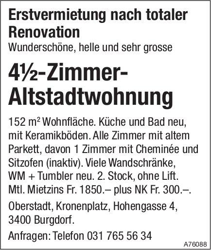 4½-Zimmer-Altstadtwohnung in Burgdorf zu vermieten