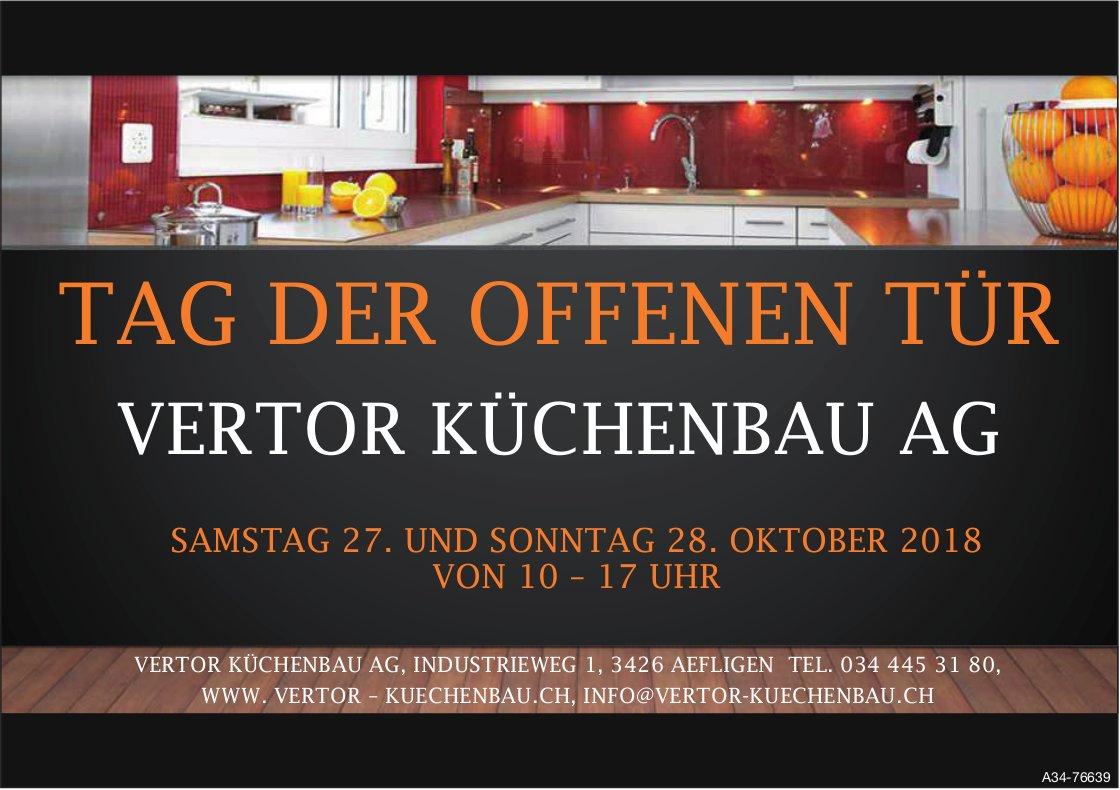 VERTOR KÜCHENBAU AG - TAG DER OFFENEN TÜR, 27. + 28. OKTOBER