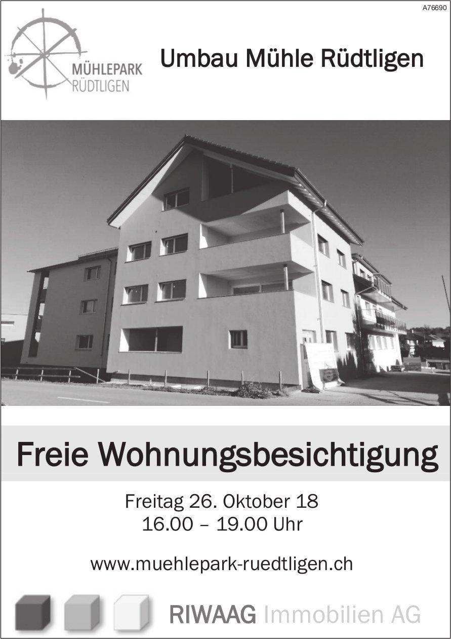 Umbau Mühle Rüdtligen - Freie Wohnungsbesichtigung am 26. Okt.