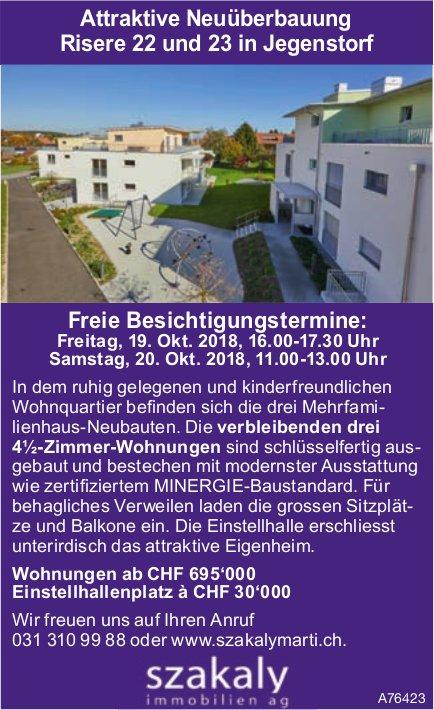 Attraktive Neuüberbauung in Jegenstorf - Freie Besichtigungstermine am 19. + 20. Okt.