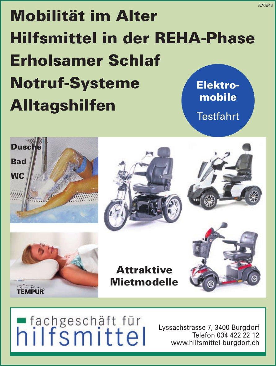 Fachgeschäft für Hilfsmittel - Mobilität im Alter, Hilfsmittel in der REHA-Phase usw.