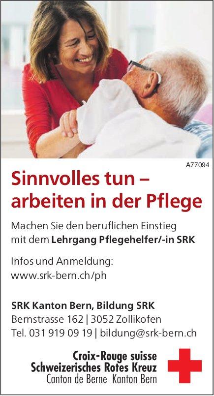 Sinnvolles tun – arbeiten in der Pflege, SRK Kanton Bern, Bildung SRK