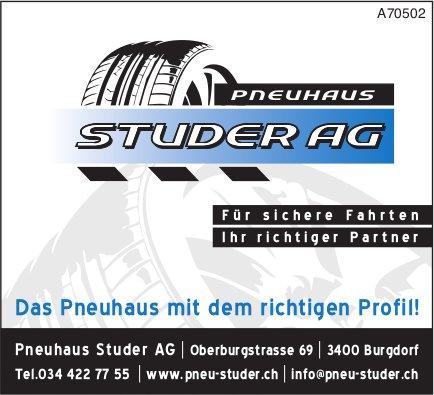 Pneuhaus Studer AG - Für sichere Fahrten Ihr richtiger Partner