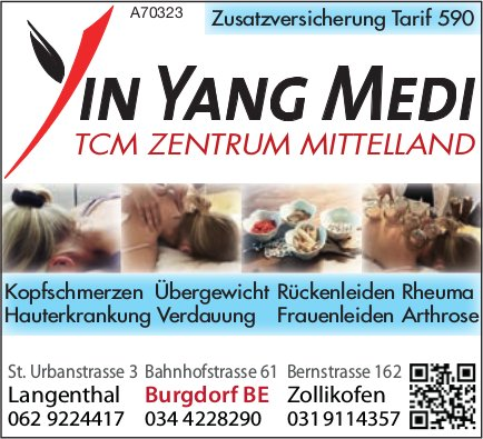 Yin Yang Medi TCM Zentrum Mittelland