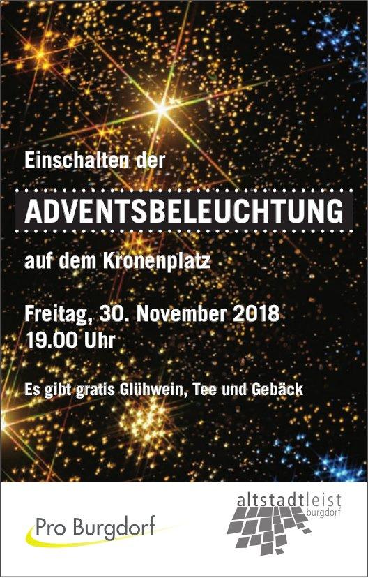 Einschalten der Adventsbeleuchtung, 30. Nov., Kronenplatz