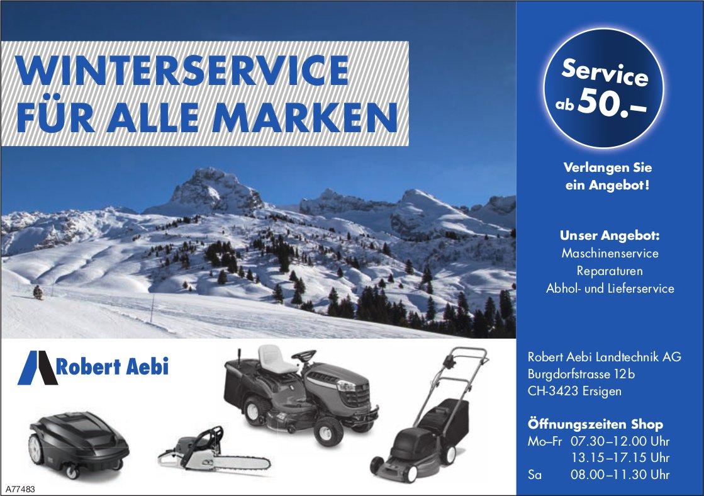 Winterservice für alle Marken, Robert Aebi Landtechnik AG