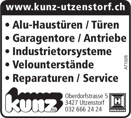 Alu-Haustüren / Türen etc., Kunz AG