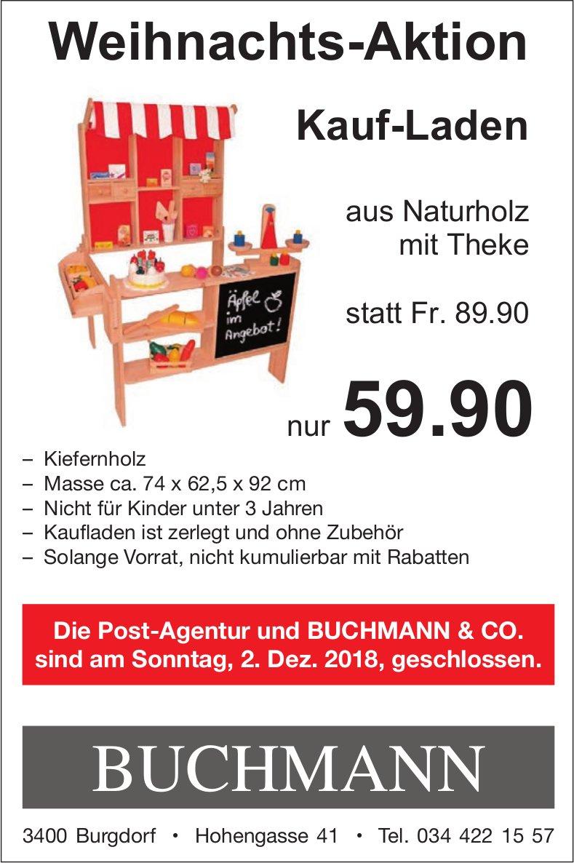 Weihnachts-Aktion, Buchmann & Co.