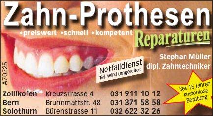Zahn-Prothesen - Reparaturen, Stephan Müller dipl. Zahntechniker