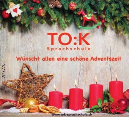 TO:K Sprachschule wünscht allen eine schöne Adventszeit